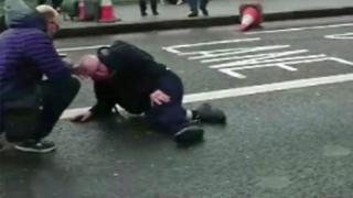 Herido en el puente de Westminster