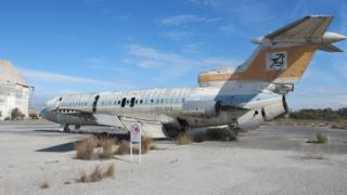 Derelict airliner at Nicosia airport