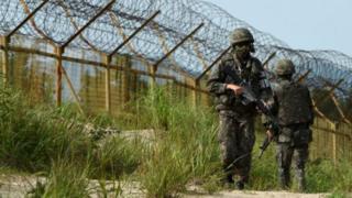 Canh gác tại biên giới Bắc, Nam Hàn