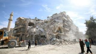 Mji wa Allepo, Syria unaokabiliwa na mapigano