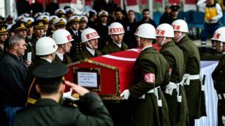 جنازة جنود أتراك