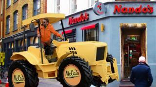 McCain truck and Nandos restaurant