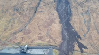 Landslip at Kinloch Hourn