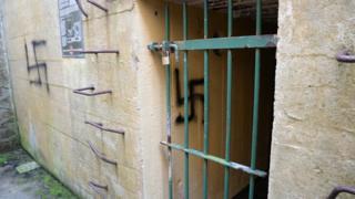 Swastika graffiti