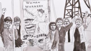 Orgreave Truth and Justice Campaign's illustration has been used to publicise After The Strike