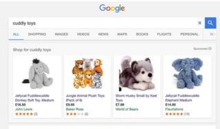 Xayaysiinnada google ayaa korka soo marka alaab iib ah laga baaranayo Google