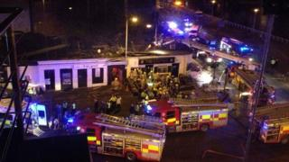 Clutha helicopter crash scene