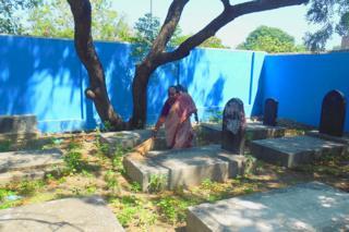 Cementerio judío en Chennai, India.