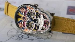 Reloj con forma de calavera