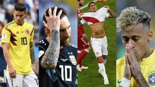 James, Messi, Guerrero y Neymar