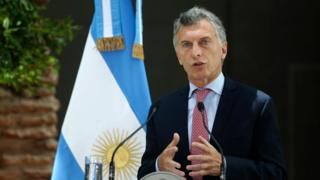 Presidente de Argentina, Mauricio Macri.