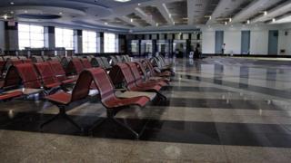Empty arrivals hall at Sharm el-Sheikh airport