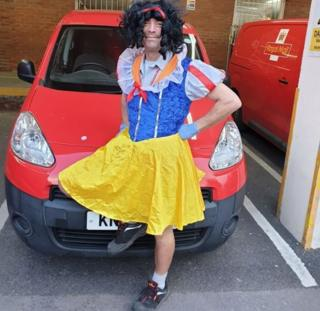 Terry dressed up as Snow White