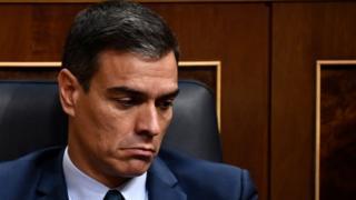 Spanish caretaker Prime Minister Pedro Sanchez