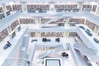 Stuttgart'taki kütüphane