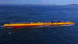 Floating tidal turbine