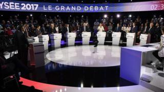 French election televised debate