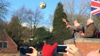 Bill Millward turns up the ball