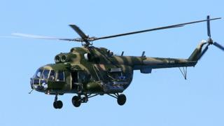 A Russian Mil Mi-8 helicopter.