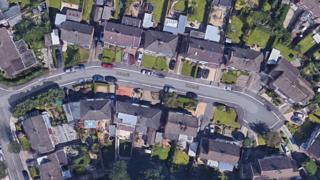 Arial shot of Leven Close