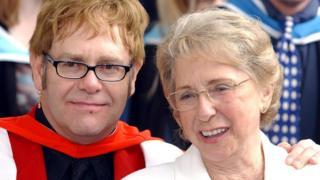 Elton John and Sheila Farebrother
