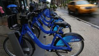 Citi Bike docking station in New York (28 May 2013)
