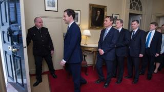 George Osborne and his Budget team