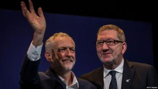 Jeremy Corbyn (left) and Len McCluskey (right)