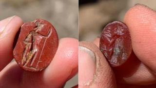Two red jasper Roman intaglios