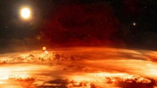 ایک سیارے کی فضا کا منظر