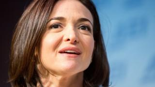 Facebook's Chief Operating Officer Sheryl Sandberg speaks