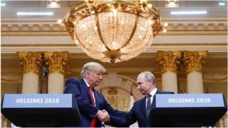 Rais Trump na Putin mjini Helsinki, Finland