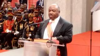Le président Ali Bongo a été investi mardi 27 septembre 2016 au palais présidentiel du bord de mer, à Libreville
