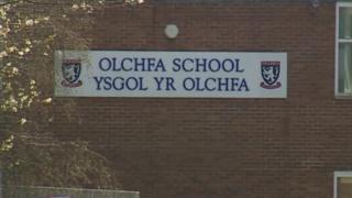 Olchfa School sign