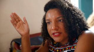 Deputada estadual Renata Souza (PSOL-RJ) concede entrevista