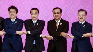 태국에서 열린 아세안+3 정상회의