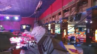 Roof collapse at Pontins