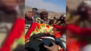 صور تناقلتها وسائل الإعلام لجثة صالح
