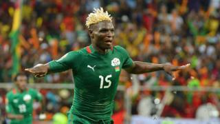 Aristide Bancé lors de la finale de la Coupe d'Afrique des nations 2013