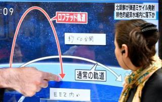 Японское телевидение интенсивно освещало пуск ракеты
