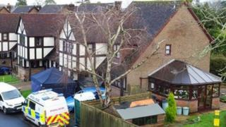 Murder scene in Court Meadow Close, Rotherfield