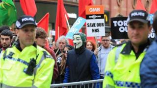 Protests in Manchester