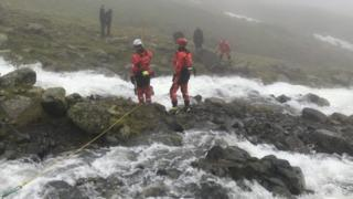 Rescue at Lingmell Gill