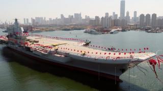 中國第一艘國產航母2017年4月在大連下水,這將是中國第二艘航空母艦。