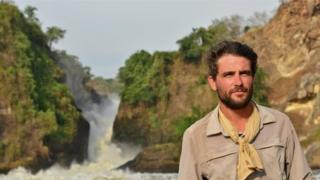 Levison Wood at Murchison Falls in Uganda