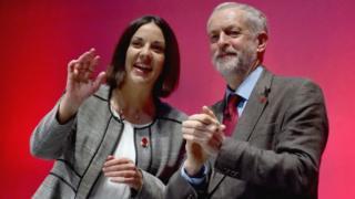 Kezia Dugdale and Jeremy Corbyn
