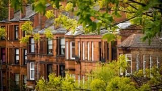 Tenement buildings in Glasgow