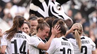 Juventus Women celebrate
