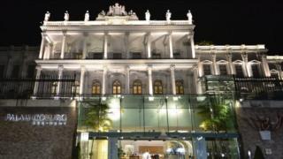 Palais Coburg hotel in Vienna.