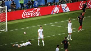 Croatia score v England in the World Cup 2018 semi final